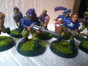 "Old plastic guard and late 80s ""female guard"" models."