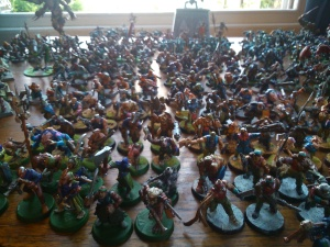 Tsunami of mutants!  The eagle-eyed might spot a genestealer hybrid in there.