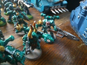 More Chaos Space Marines.  I love the early Rogue Trader Renegades and in the next army am going to try and increase the ratio of early CSMs to modern ones.